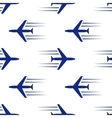 blue planes seamless vector image vector image