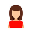 brown-haired girl with a fashionable haircut flat vector image vector image