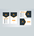 business card template portrait and landscape vector image vector image
