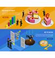 Business Development Isometric Horizontal Banners vector image vector image