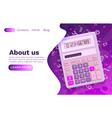 calculator web finance technology business banner vector image