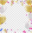 celebration template happy birthday on black vector image