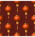 Chinese New Year lanterns seamless pattern vector image vector image