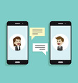 concept of a mobile chat or conversation of people vector image
