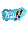 diving club with flippers vector image