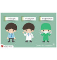 doctor in situations vector image vector image