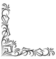 Doodle abstract handdrawn corner frame vector image vector image