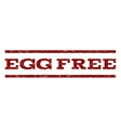 Egg Free Watermark Stamp vector image vector image