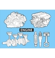 Engines vector | Price: 1 Credit (USD $1)