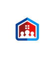 family house construction logo vector image