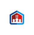 family house construction logo vector image vector image