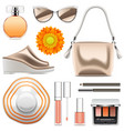 fashion accessories set 6 vector image vector image