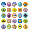 flat icons collection with long shadow vector image vector image