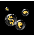 forex bubbles vector image vector image