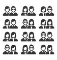 friendship and friend icons set on white vector image