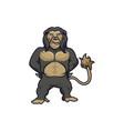 gorilla colored full body mascot logo premi vector image vector image