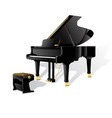 grand piano isolated on white background fully vector image