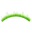 green grass in the shape of an arc vector image vector image