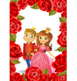 happy birthday princess and prince greeting card vector image vector image
