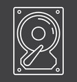 hard disk line icon hardware and hdd vector image vector image
