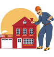 Home inspector vector image