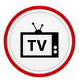 icon with the image of the TV vector image
