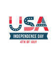 independence day of the united states poster vector image vector image