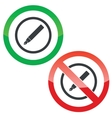 Ink pen permission signs vector image vector image