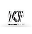 kf k f lines letter design with creative elegant vector image vector image