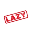 Lazy Rubber Stamp vector image vector image