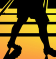 leg walking woman silhouette vector image vector image
