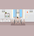 modern kitchen interior empty no people dining vector image