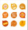 modern orange design template vector image vector image
