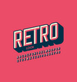 modern retro style font vector image vector image