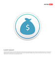 money bag icon - white circle button vector image