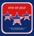 national independence day america vector image vector image
