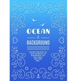 Ocean background Marine frame Nautical