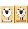 popcorn package design with fun sheep sheep with vector image