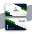 professional green business card geometric vector image vector image