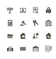 real estate - flat icons vector image