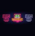 reggae music neon sign design vector image vector image
