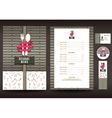 Restaurant or cafe menu design template vector image vector image