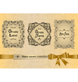 Retro labels collection with ribbon vector image vector image
