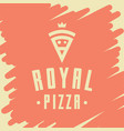 royal pizza style logo icon emblem sign vector image