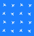 seamless airplane pattern vector image vector image