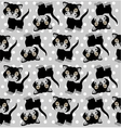 Seamless background with cats vector image vector image