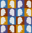 Seamless pattern Peoples faces with different vector image vector image