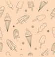 seamless pattern with ice-cream vector image vector image