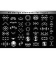 Set Creative icon monogram design elements vector image vector image