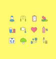 set simple line icons diabet vector image vector image